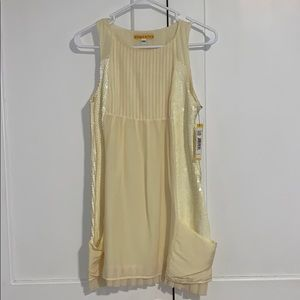 NWT Alice + Olivia Pale Yellow Sequin Dress